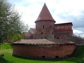 Dochované pozůstatky kaunaského hradu ze 13.století