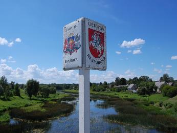 Na litevsko-lotyšských hranicích