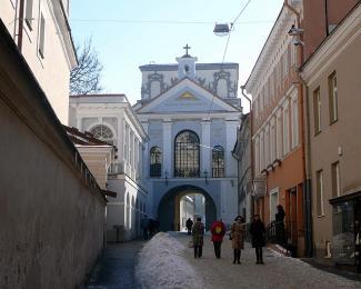 Jediná dochovaná brána starého města sikonou Panenky Marie