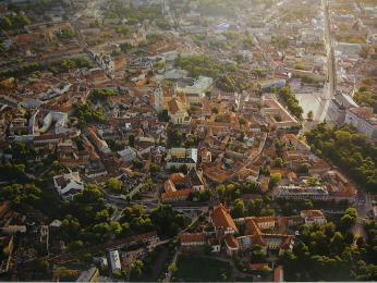 Pohled na historické centrum Vilniusu
