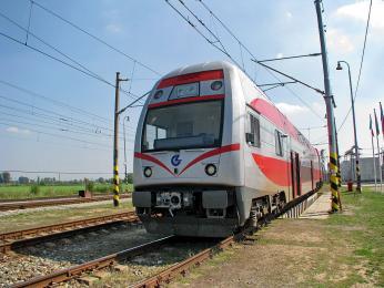 Na lince Vilnius-Kaunas se můžete setkat se soupravami CityElefant vagonky Škoda