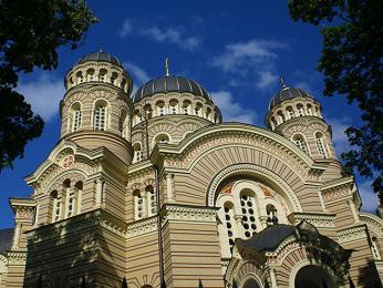 Katedrála Zrození Ježíše byla postavena pro ruskou komunitu vRize