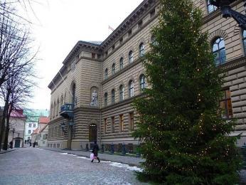 Budova parlamentu se stala v80.letech centrem snah onezávislost Lotyšska