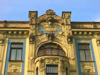 Počet secesních domů vcentru Rigy je zřejmě nejvyšší ze všech měst světa