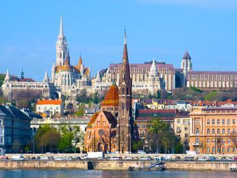 Hradní vrch je ozdobou města Budapešť