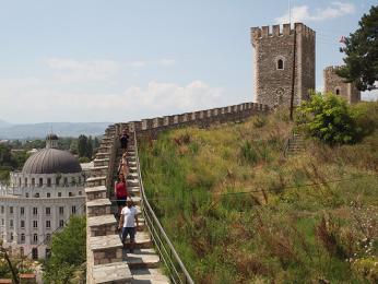 Hradby středověké pevnosti Kale vcentru Skopje