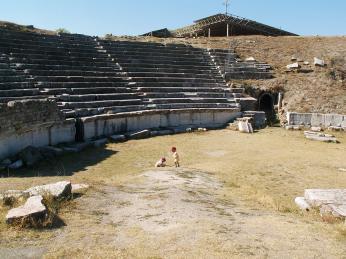 Antický amfiteátr ve Stobi