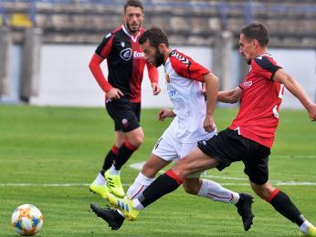 Momentka ze zápasu Shkëndija Tetovo versus Vardar Skopje