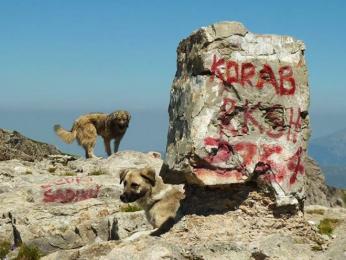 Vrchol Velkého Korabu, nejvyšší makedonské hory