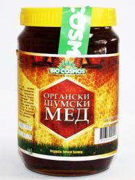 Makedonský lesní med je tmavě červený