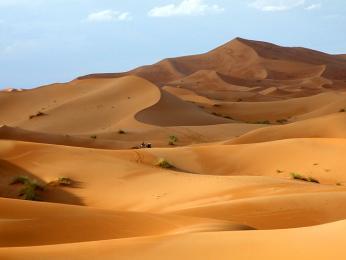 Pohyblivé písečné duny Erg Chebbi