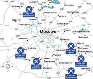 Moskevská letiště