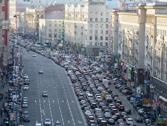 Rušná Tverská ulice