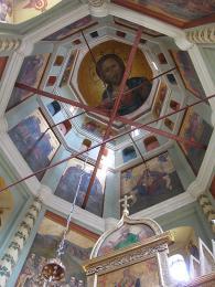Interiér chrámu Vasila Blaženého