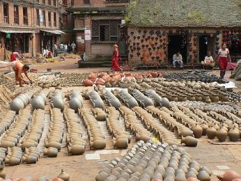 Hrnčířské náměstí  Bhaktapuru