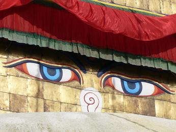 Buddhovy oči provází člověka všude