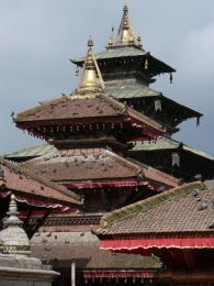 Dřevěné chrámy na náměstí Durbar vKáthmándú