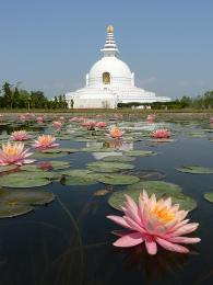 Buddha se narodil v Lumbini roku563př.n. l.