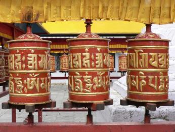 Buddhistické modlitební mlýnky
