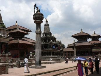 Chrámové náměstí vPatanu patří mezi památky UNESCO