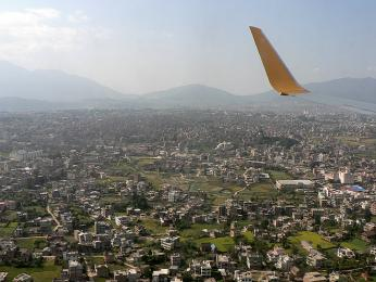Přistání vKáthmándú