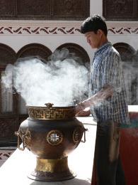 Jeden zmnoha buddhistických svátků vklášteře Bodnath