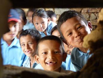 Tamangské děti ve škole