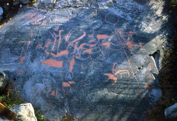 Pravěcí lovci a šamani na rytinách v Altě