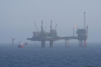 Težba ropy v Severním moři