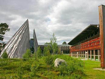 Budova sámského parlamentu vKarasjoku