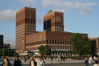 Radnice v hlavním městě Oslo