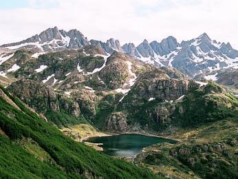 Pohoří Dientes na ostrově Navarino