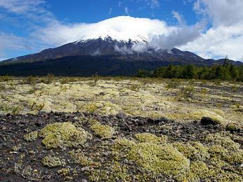 Vulkán Osorno v jižním Chile