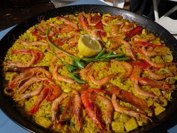 Rýže splody moře - velmi oblíbené jsou krevety