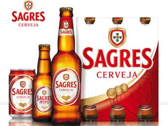 Pivo Sagres, které patří mezi nejznámější značky