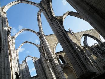 Ruiny Convento do Carmo připomínají ničivé zemětřesení roku1755