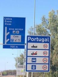 Cedule srychlostním omezením vPortugalsku