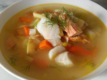 Rybí polévka psarosoupa