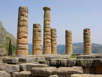 Právě vApollonově chrámu probíhaly věštby