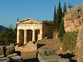 Pokladnice Atéňanů byla postavena po vítězství nad Peršany z roku 490př.Kr.