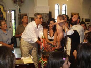 Křtiny v řeckém kostele