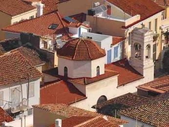 Ukostela Agios Spyridon byl zavražděn hrabě Kapodistrias