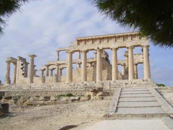 Chrám bohyně Afaie na ostrově Aigina