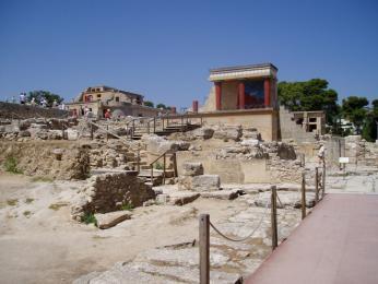 Významné starověké město Knossos
