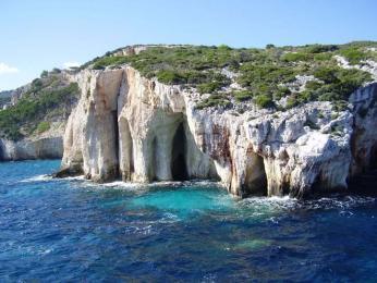 Modré jeskyně na Zakynthosu