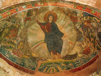 Byzantský kostelík Osios David v Soluni ukrývá krásnou mozaiku