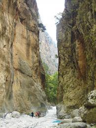 Šestnáct km dlouhá soutěska Samaria