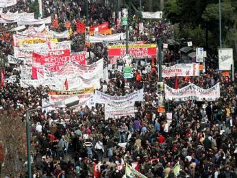 Řecká stávkující mládež
