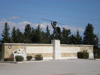 Památník bitvy uThermopyl - socha spartského krále Leónidase