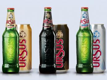 Rumunské pivo značky Ursus